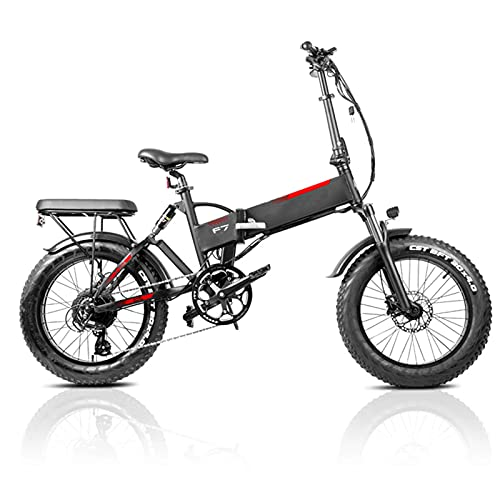 20 Zoll Elektrofahrrad Bike, Falt Elektro Fahrrad 750W EBikes Klappfahrrad Mit Abnehmbarer 48V 13.6AH Lithium-Ionen-Batterie 45km/h Reichweite 90km,7 Gang,Scheibenbremsen Kinder Schule bringen