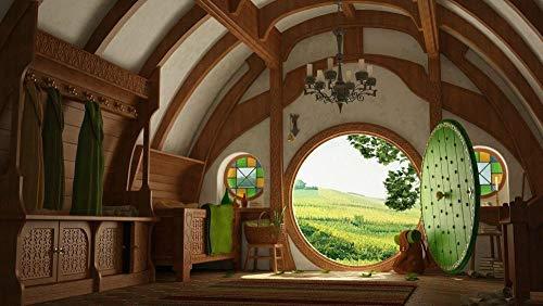 JUHAO Kits de pintura de diamante 5d, DIY Pintura de Diamante kit completo-Hogar Hobbit-Pintura digital decoración del hogar, arte de pared de Navidad