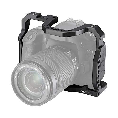 UURig Camera kooi voor Canon EOS 90D/80D/70D DSLR Camera Extension Koude Schoen Microfoon/Licht Ondersteuning Video Filmen Accessoires