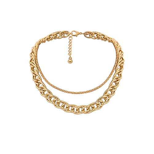 Halskette Gold Weltkugel Kette AnhäNger KettenläNge Goldkette Ankerkette Sterling Silber Herz KöNigskette Schlangenkette Silberkette (A)