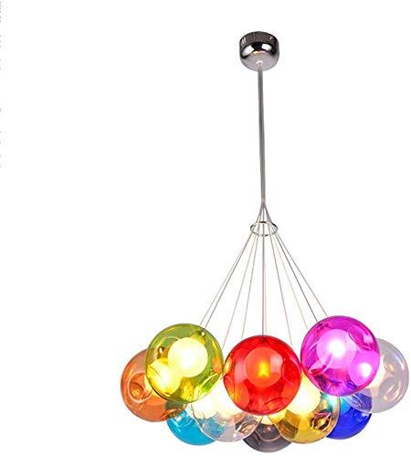 Personalidad creativa Nordic restaurante lámpara de araña de café de la habitación de los niños de vidrio manchado burbuja bola de araña, 10Kopf