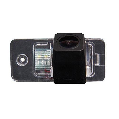 Kalakus Rückfahrkamera in Kennzeichenleuchte mit High Definition Nachtsicht und 170° Winkel Rückfahrsystem Einparkhilfe für Audi A3/A4/A6L/Q7/S5/S8/A7/A8L(Starlight Super pro Kamera)