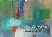 Farbspuren - Kunstkalender (Wandkalender 2022 DIN A3 quer): Kunstkalender mit abstrakten Motiven (Monatskalender, 14 Seiten )