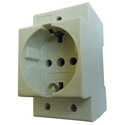 PROTEC 05103137 PROT DIN-Steckdose PDSD 16A für Hutschiene, 1 Stück Einbausteckdose