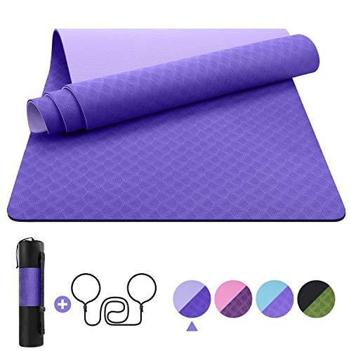 EgoIggo Esterilla Yoga Antideslizante, Yoga Mat colchoneta Y