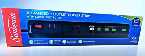 Sunbeam Advance 7 Outlet Power Strips with Surge...