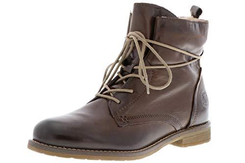 Klondike Damen Winterstiefel Stiefeletten Boots Warmfutter braun, Größe:42, Farbe:Braun