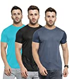 AWG - All Weather Gear Men's Solid Regular fit T-Shirt (Pack of 3)