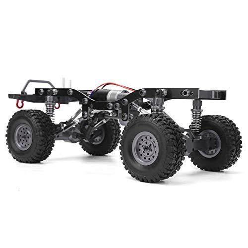 Wosune Auto-Rahmen-Kit, RC-Chassis-Kit RC-Karosserieteil RC-Karosserie-Chassis-Rahmen Metall RC-Karosserie-Chassis-Rahmen RC-Karosserie,(Titanium WPL-C14S)