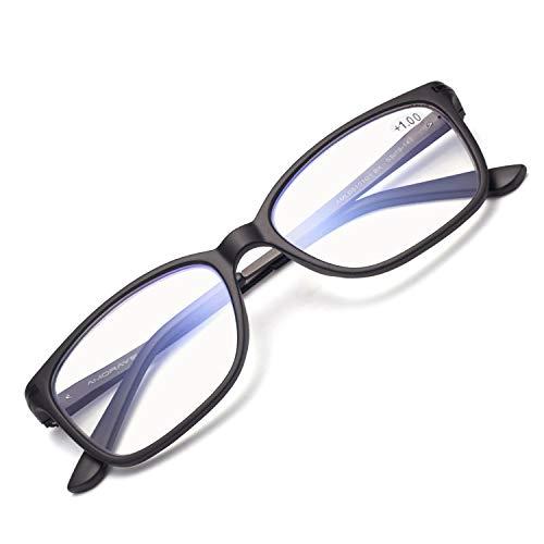 JIMMY ORANGE老眼鏡 超軽量 ブルーライトカット パソコンスマホ対応 バネ蝶番 携帯 スクエア オシャレ レディース メンズ ミニアグラス 老眼鏡AMLD5101G1(ブラック,2.5)