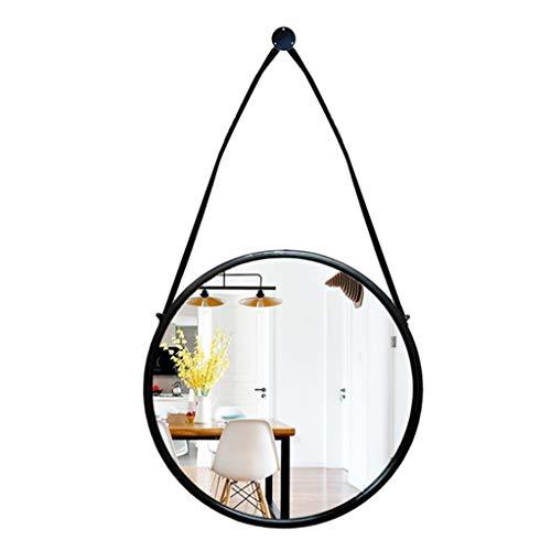 DQMSB Waschbecken im nordischen Stil Schmiedeeiserner Spiegel Badezimmer Waschbecken Wandmontiertes Badezimmer Spiegel Waschbecken Wandmontierter runder Spiegel (größe : 70 * 88.5cm)