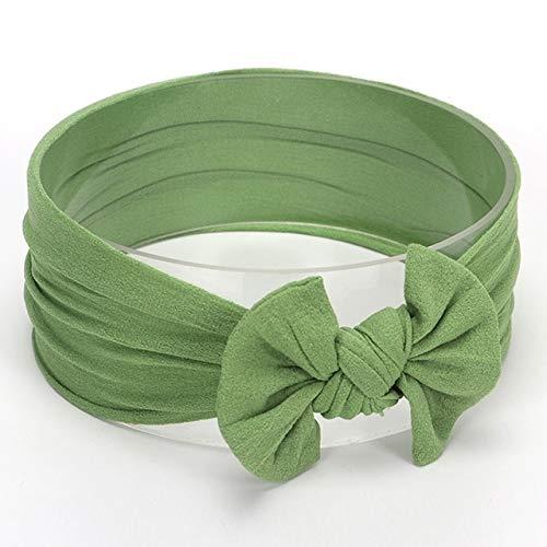 Accessori per Capelli Styling Bowknot Mignon bébé Fille Bandeau Serre-tête Bandeaux Bandeaux (Couleur : Green#26)