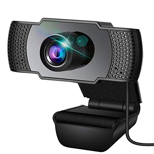 Webcam, Webcam with Microphone, PC Webcam, Streaming Computer Web Camera with Support 3D Denoising and Automatic Gain, USB Computer Webcam for Video Calling, Online Classes and Video Conference