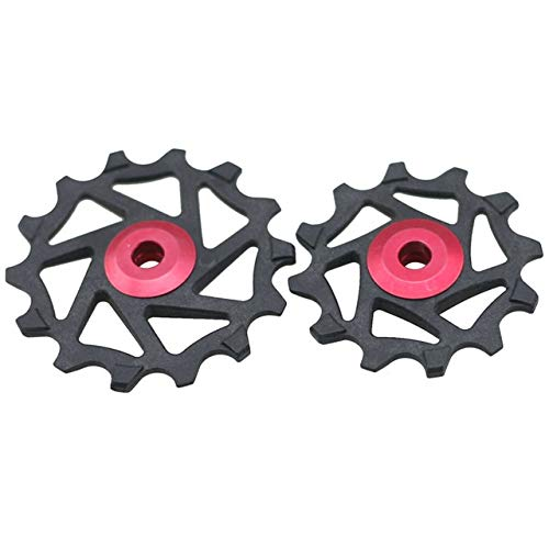 TLBBJ Bicycle Transmission Bike Parts 12T+14T Derailleur Narrow Wide Ceramic Transmission Rear Dial Pulley Durable Bicycle Parts (Color : C)