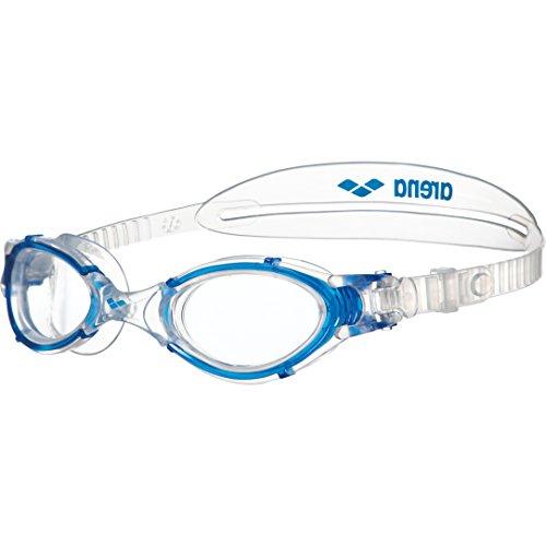 arena Unisex Training Freizeit Schwimmbrille Nimesis Crystal Large (UV-Schutz, Anti-Fog Beschichtung), Clear-Blue (17), One Size