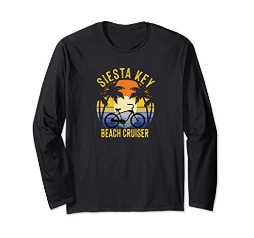 Siesta Key Beach Cruiser Florida Gulf Coast Vacation Bike Long Sleeve T-Shirt