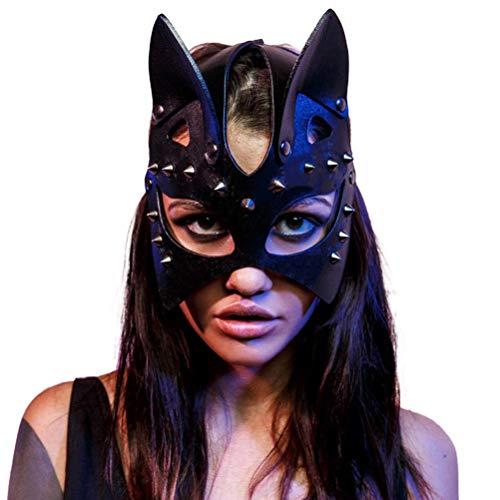 BSTiltion Masquerade Mask Katzenmaske Damen Sexy Niet Katze Maskerade Maske, Halloween Maske, Maskenball Maske Halloween Requisiten, Katzenfrau Cosplay Für Halloween Karneval Party Cosplay Kostüm