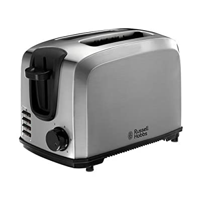 Russell Hobbs Compact 2-Slice Toaster 20880 - Brushed Stainless Steel Silver