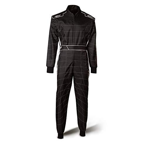 Speed Racewear Atlanta CS-2 cordura overall - hoogwaardige carting overall - zwart/wit X-Large Zwart/Wit