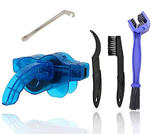 fuvooi Bicycle Chain Cleaner,Bike Chain Cleaner Scrubber Quick Clean Tool Brush Mountain Bike Accessory Maintenance Tool Cleaning Big Brush,tyre levers.
