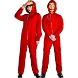 Party City Money Heist Jumpsuit Halloween Costume for Adults, Large/Extra Large, Includes Mask