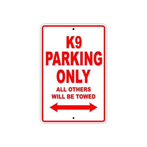 BIG DOG K9 Parking Only Towed Motorcycle Bike Chopper Aluminum Sign