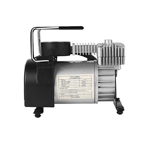 SuoYn Rubberen banden, draagbare luchtcompressor, 12 V, rubberen banden, heavy duty direct drive, metalen pomp, 120 psi luchtpomp