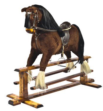 MJmark SALE SALE WHILE STOCK LAST Shire Horse in BAY colour Handmade Rocking Horse MARS IV Cheval à bascule