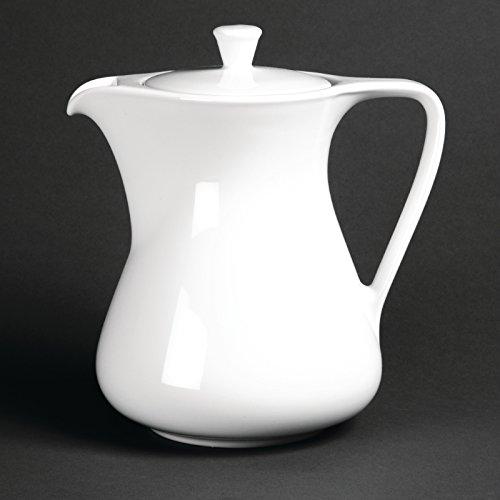 Royal Porzellan Kaffeekanne, 1,05 l, klassisch, weiß, Espressokanne, Restaurant