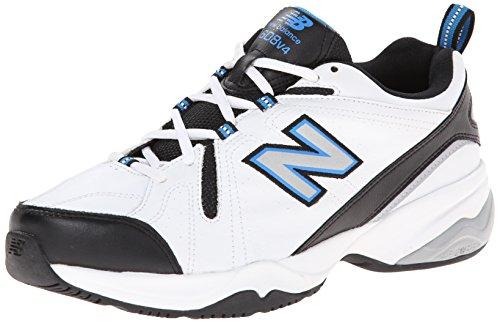 New Balance Men's MX608v4 Training Shoe, White/Royal, 10 4E US