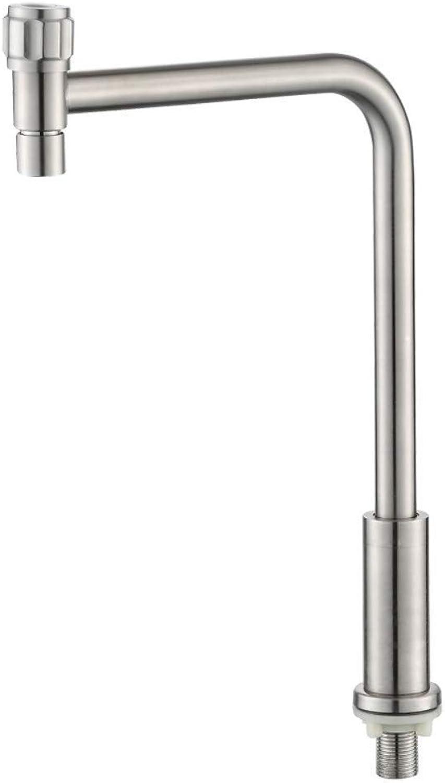 Water Tap Single Handle Taps 304 Stainless Steel Kitchen Sink Single Cold Faucet redatable Dishwashing Sink Sink Faucet