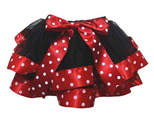 Petitebelle - Jupe - Trapèze - Bébé (fille) 0 à 24 mois noir rouge, blanc - noir - Small