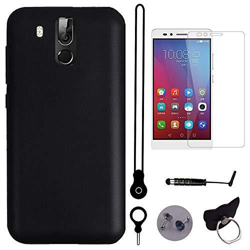 TienJueShi Schutz Hülle Handy Tasche Für oukitel k10 TPU Silikon Glass Folie Hülle Abdeckung Cover Etüi Skin