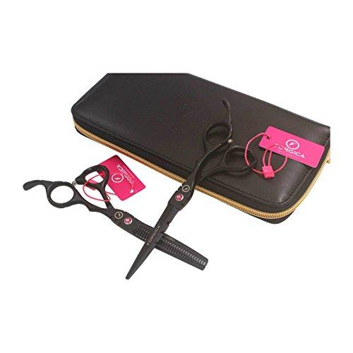 Titanium Black Coupe de cheveux + ciseaux à effiler parfaitement lisse Coupe très nettes et de longue durée