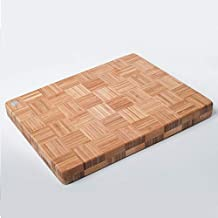 Licok Extra Large Organic Bamboo Chopping Board(Cutting Board) in End Grain   40 x 30 x 3cm   Extra Thick Butchers Block
