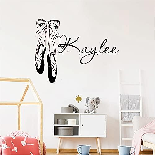 Dziewczęce o nazwie baletki do tańca dekoracyjne naklejki ścienne winylowe naklejki ścienne do sypialni dla dzieci wodoodporne 70x90cm
