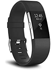 T Tersely Watch Band Strap for Fitbit Charge 2, Classic Soft TPU Silicone Adjustable Replacement Bands Fitness Sport Bracelet Strap for Fitbit Charge 2