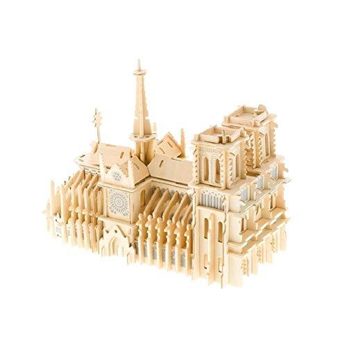 Without 3D del Buque Rompecabezas Rompecabezas Modelo Mode Notre Dame de París Monumento 3D Jigsaw Puzzle Edificios Famosos de Madera ensambladas DIY Modelo de simulación de Puzzle Asamblea Juguetes