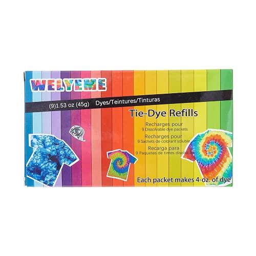 Tie-Dye Refills 9 Packets (Rainbow)