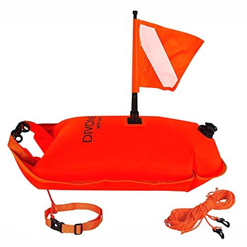 Boya Buceo + Bolsa impermeable XL + Flotador natación