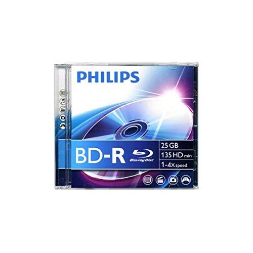 1 Philips Blu-ray BD-R 25GB 6x Jewel Case
