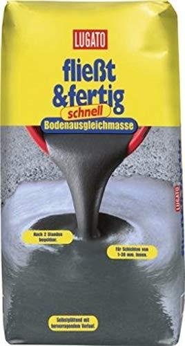 Lugato Fliesst & Fertig Schnell 20 kg- Selbstverlaufende Bodenausgleichmasse