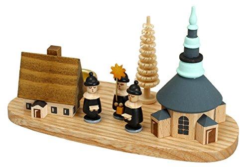 Villaggio Seiffen del supporto di candela con i cantanti del canto natalizio 7.5 montagne del minerale metallifero dei supporti di candela di cm NUOVE