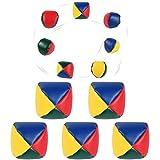 Funmo Bolas de Malabarismo, 5 Pcs Mini Malabares Conjunto de Bolas, Malabares Bolas de Pelotas Bolas de Juego de malabarismo para niños y Principiantes