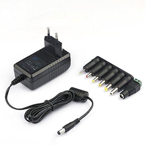 KFD Schaltnetzteil DC Stecker Ladegerät Universal Netzteil 12V Trafo 2A 1,67A 1200ma Ladekabel für Fritzbox Seagate, 7 Stecker 5,5x2,5 4,0x1,7 4,8x1,7 3,5x1,35 2,5x0,7 5,5x1,7mm 12V Mutter DC stecker