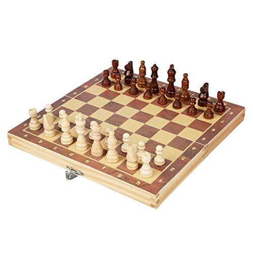 Suppemie Tablero de ajedrez plegable, juego de ajedrez internacional para cumpleaños, aniversarios y Navidad