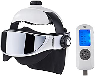 Electric Head Massage Helmet/Eye Massage/Neck Massage | for Stress & Headache Relief | Works as a Migraine Therapy, to Help The Brain Relax and as a Scalp & Eye Massager
