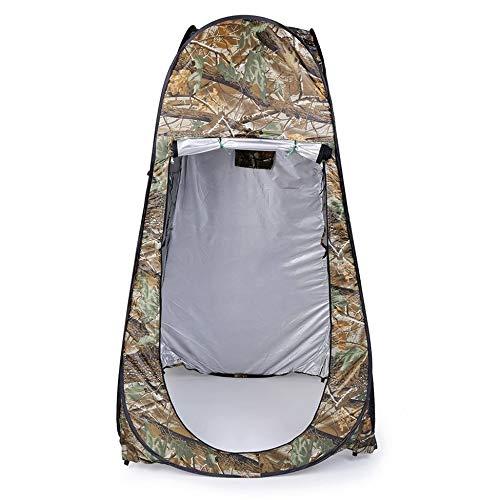 Umziehbares Duschzelt für den Außenbereich, mit Sichtschutz, Wannenschutz, wasserdicht, Pop-Up-Zelt mit Tasche, Camouflage – Ahornblätter, Camouflage