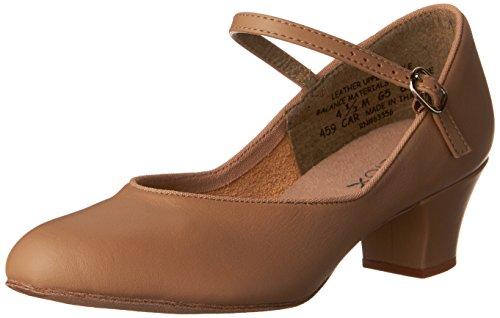 Capezio Women's Suede Sole Jr. Footlight Character Shoe, Caramel, 10 W US