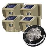 Hosmart 1/2 Mile Long Range Rechargable Solar Driveway Alarm Wireless Sensor System Driveway Sensor Alert System Weatherproof Security Outdoor Motion Sensor